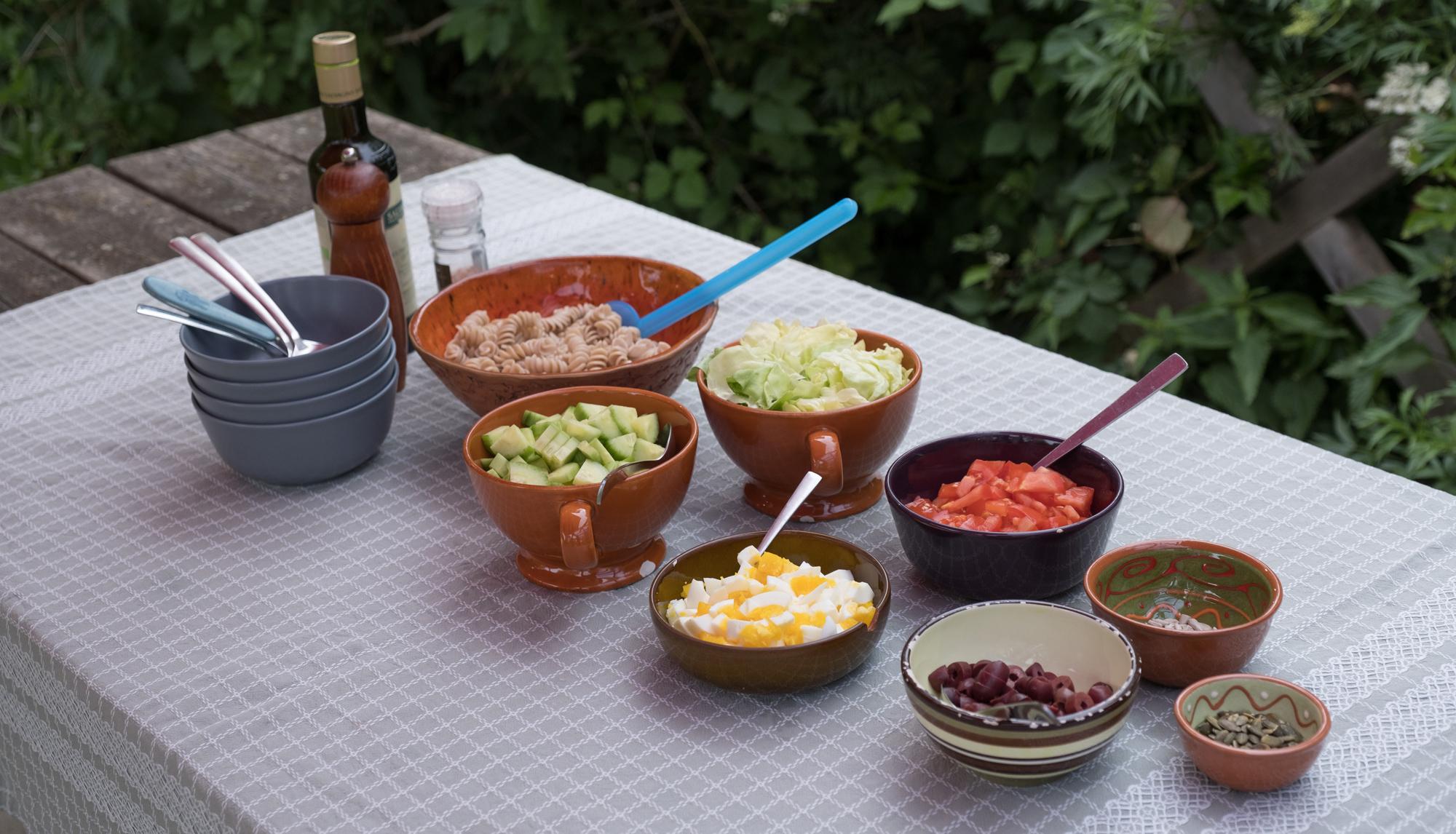 Zelf-bedenk-pastasalade